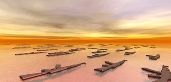 Armas que flotan en el mar Fotografía de archivo libre de regalías