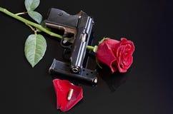 Armas y rosas Foto de archivo