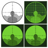 armatni crosshair widok Obraz Royalty Free