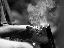 armatni dymienie Obraz Stock