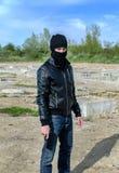 armatni maskowy bandyta Zdjęcia Stock