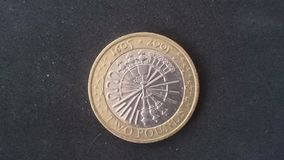 Armatniego proszka fabuły £2 moneta Obrazy Royalty Free