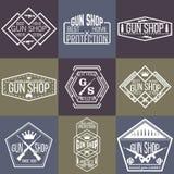 Armatniego sklepu odznak i logotypów wektoru set Obraz Stock