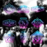 Armatniego sklepu odznak i logotypów wektoru set Zdjęcie Royalty Free