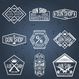 Armatniego sklepu odznak i logotypów wektoru set Fotografia Stock