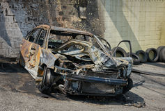 Armatoste quemado del coche horizontal Imagenes de archivo