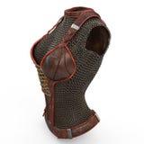 Armatura a catena femminile fatta di metallo su fondo bianco isolato illustrazione 3D Immagine Stock Libera da Diritti