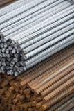 Armatura d'acciaio del metallo al posto della costruzione Immagine Stock Libera da Diritti