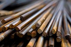 Armatura d'acciaio della costruzione Fotografie Stock