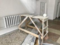 Armatura di legno di piccola dimensione, abbattuta dalle plance Fotografia Stock Libera da Diritti