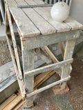Armatura di legno di piccola dimensione, abbattuta dalle plance Immagine Stock