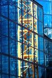 Armatura gialla della gru. Fotografia Stock Libera da Diritti