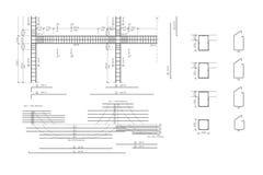 armaturbetongbyggnadsritning Royaltyfri Fotografi