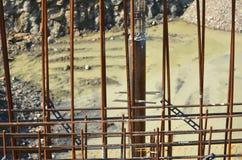 Armature ενίσχυσης κατασκευής Στοκ εικόνα με δικαίωμα ελεύθερης χρήσης