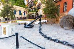 Armature και άγκυρα Ελλάδα, Chania, Κρήτη Στοκ φωτογραφίες με δικαίωμα ελεύθερης χρήσης