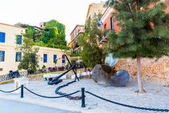 Armature και άγκυρα Ελλάδα, Chania, Κρήτη Στοκ εικόνα με δικαίωμα ελεύθερης χρήσης