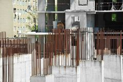 Armature ράβδος για την ενίσχυση Στοκ φωτογραφίες με δικαίωμα ελεύθερης χρήσης