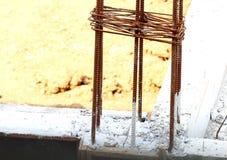 Armature ράβδων σιδήρου για την κατασκευή Στοκ Φωτογραφίες