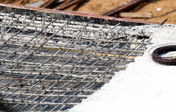 Armature ράβδων σιδήρου για την κατασκευή Στοκ Εικόνες