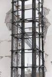 Armature χάλυβα στήλη Στοκ Εικόνες