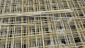 Armature made of wire wires, concrete ceilings reinforcement. Armature made of wire wires. Metal roxtors, reinforcement in reinforced concrete ceilings. Building stock footage