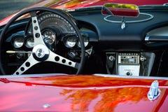 Armaturenbrett 1959 Chrevolet Korvette Stockbild