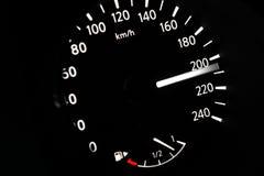 Armaturenbrett des Autos schnell gehend Lizenzfreie Stockfotos