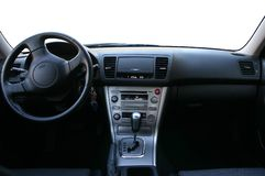 Armaturenbrett eines Autos Stockbild