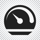 Armaturenbrettvektorikone Waagerecht ausgerichtete Metergeschwindigkeits-Vektorillustration Si Lizenzfreie Stockfotografie