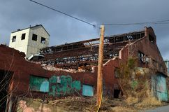 Armazém abandonado Missouri 005 da independência Foto de Stock Royalty Free