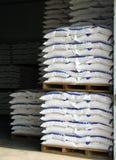 Armazém com sacos Foto de Stock Royalty Free