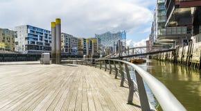 Armazém da cidade de Speicherstadt em Hamburgo Alemanha Elbphilharmonie Imagem de Stock Royalty Free