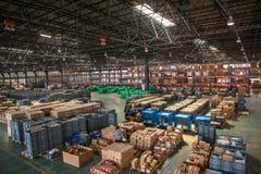 Armazém das peças de automóvel de Chongqing Minsheng Logistics Chongqing Branch Imagens de Stock