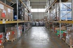 Armazém de distribuição foto de stock