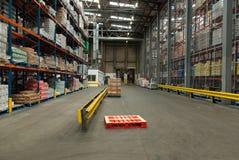 Armazém de distribuição alimentar Foto de Stock