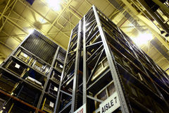 Armazém elevado da fábrica da ascensão fotografia de stock