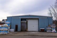 Armazém em Rochester, Michigan foto de stock