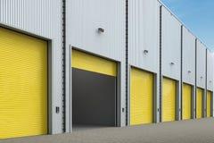 Armazém exterior com portas do obturador Imagem de Stock Royalty Free