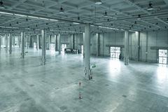 Armazém moderno, área industrial ou fábrica Imagens de Stock