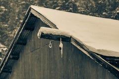 Armazém nevado Imagem de Stock
