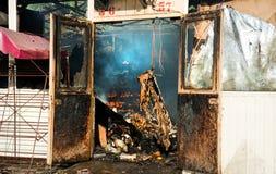 Armazém queimado Imagem de Stock