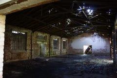 Armazém velho do interior Imagem de Stock Royalty Free