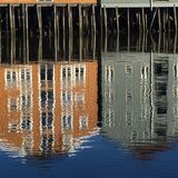 Armazém velho, Trondheim, Noruega Imagens de Stock