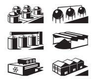 Armazéns comerciais e industriais ilustração royalty free