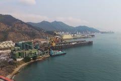 armazéns para navios o porto de Hong Kong Fotografia de Stock Royalty Free