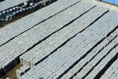 Armazenagem de Aluminimum no porto de Salerno, Itália Fotos de Stock