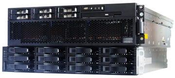 Armazenamento da disposição do server e de disco da lâmina Fotografia de Stock Royalty Free