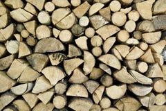 Armazenamento da madeira do incêndio Fotos de Stock Royalty Free
