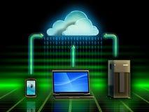 Armazenamento da nuvem Imagens de Stock