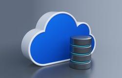 Armazenamento da nuvem Imagem de Stock Royalty Free